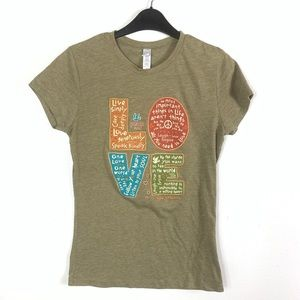 Next level green large peace & love graphic tshirt